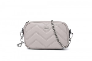CS206945 LADIES' QUILTED LEATHER CROSSBODY
