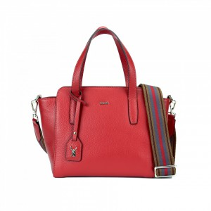 5028 PEBBLE LEATHER MINI ZIPPER TOTE