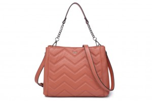 CS206942 LADIES' QUILTED LEATHER SHOULDER BAG M SIZE