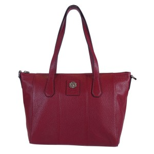 5022 PEBBLE LEATHER ZIP TOTE SHOULDER BAG