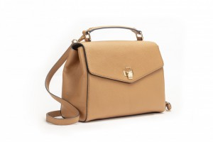 12001 PEBBLE LEATHER TOP-HANDLE SATCHEL