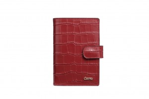 192080 CROC EMBOSSED LEATHER WALLET M SIZE