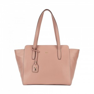 5029 PEBBLE LEATHER ZIPPER TOTE