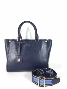 5027 PEBBLE LEATHER TOP-HANDLE ZIPPER TOTE