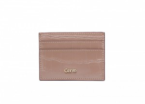 192075 CROC EMBOSSED LEATHER CARD CASE