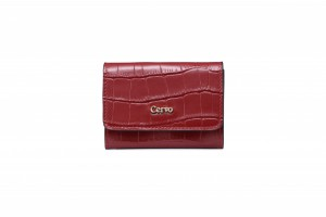 192076 CROC EMBOSSED LEATHER CARD CASE