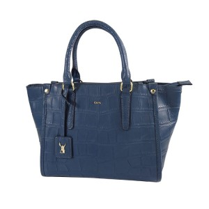 C1812001 EMBOSSED LEATHER ZIPPER TOTE